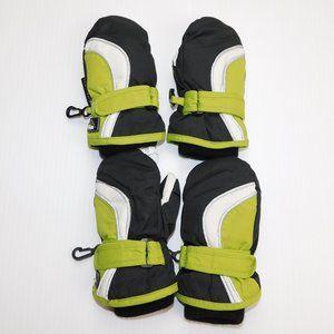 2 Pairs Boys 18 - 24 Months Winter Mittens Gloves